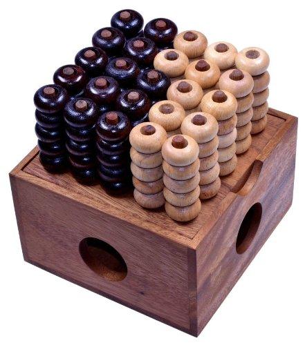Vier-in-einer-Reihe-3D-5×5-3D-Bingo-5×5-Raummhle-Viererreihe-3D-Strategiespiel-Denkspiel-aus-Holz