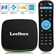 TV BOX Android 7.1 - Leelbox Q1 Smart TV Box Quad Core, 4K*2K UHD H.265, HDMI, USB*2, WIFI Media Player, Android Set-top Box