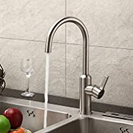 bobo Contemporary Brushed Chrome Finish Stainless Steel Kitchen Faucet