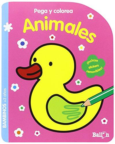 Animales. Pega Y Colorea por Ballon