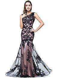 Babyonline® Damen Meerjungfrau Applique Lang Sommer Abendkleid Ballkleid  Kleider 97200af412