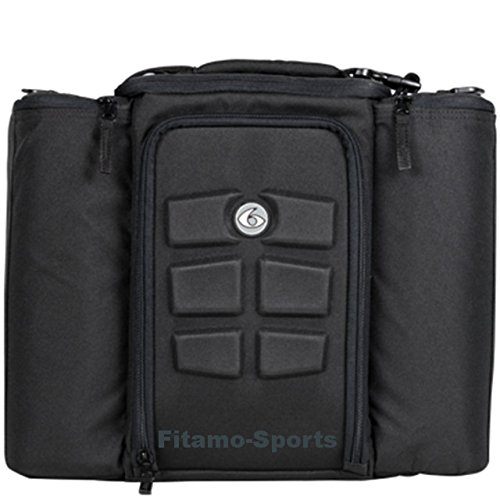 6 Pack Fitness Bag 5 Meal Management Innovator 500 - Black