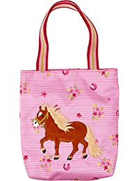 Mein Kleiner Ponyhof Mini Bolso Mi Pequeño Pony Rosa con Aplicaciones de Peluche y Bordado 18x20x4cm