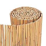 vidaXL Gartenzaun Bambus 500x30cm Sichtschutzzaun Windschutz Bambusmatte
