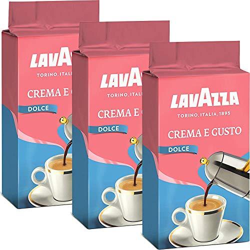Lavazza Kaffee Crema e Gusto Delicato, gemahlener Bohnenkaffee (3 x 250g)