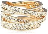 Swarovski Damen-Ring Vergoldet teilvergoldet Glas weiß Gr. 55 (17.5) - 5063924