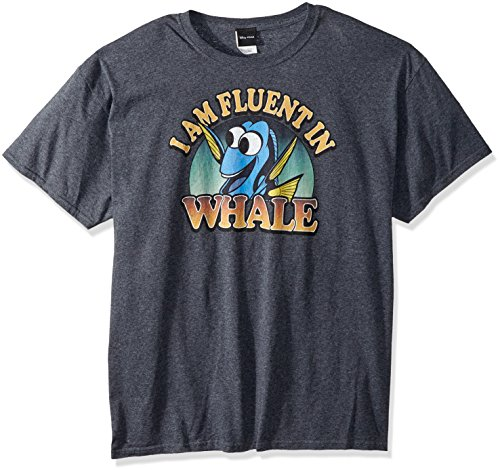 Disney Men's Finding Dory Fluent In Whale Graphic T-Shirt Shirt