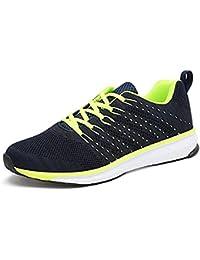 Sneakers Damen Leicht Schnürer Wander Freizeit Straßen Laufschuhe Mesh Atmungsaktiv Fitness Turnschuhe Outdoor Sport Running Schuhe Pink 34 5OvxB