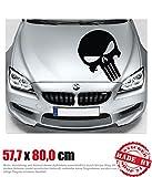The Punisher Motorhaubenaufkleber 57,7 cm x 80,0 cm Auto Aufkleber JDM OEM Tuning Sticker Decal 30 Farben zur Auswahl