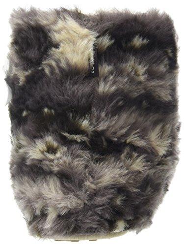 Totes Aztec Furry Bootie Slippers, Les Femmes De La Cheville Bottes Pantoufles Brown (brown)