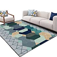 Rug Soft Rugs Living Room European-style Carpet Blending Material, Absorbent And Anti-fouling, Suitable for Bedroom Living Room, Multi-size, Multi-pattern Soft Touch Shaggy
