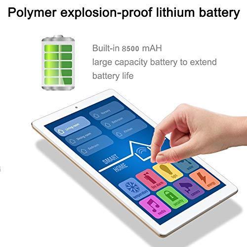Tablet 10 Pulgadas Android 9.0 Pie 2020 New,  Tablet PC 4G/WiFi,  3GB RAM+32GB ROM/128GB 8500mAh Quad- Core Dual SIM Bluetooth/GPS/OTG Tablets de función de Llamada Youtube - Oro