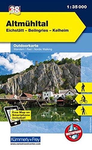 Deutschland Outdoorkarte 38 Altmühltal 1 : 35.000: Eichstätt-Beilngries-Kelheim. Wanderwege, Radwanderwege, Nordic Walking (Kümmerly+Frey Outdoorkarten Deutschland)