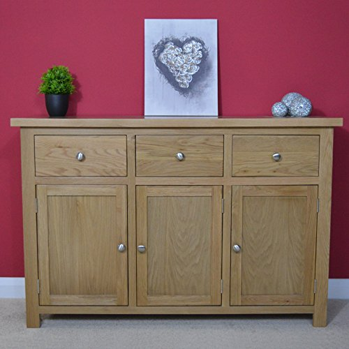 oaksby large oak sideboard oak cupboard solid wood storage dresser new