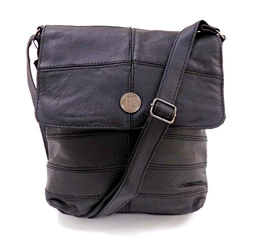 Ladies Black Leather Handbags Sale by Premium Leather [iPad/Tablet/Kindle Bag] Holiday Travel Bag