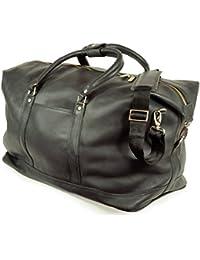 Bolsa de viaje grande / bolsa de fin de semana talla L, de cuero napa, para hombre y mujer, en varios colores, Jahn-Tasche 697