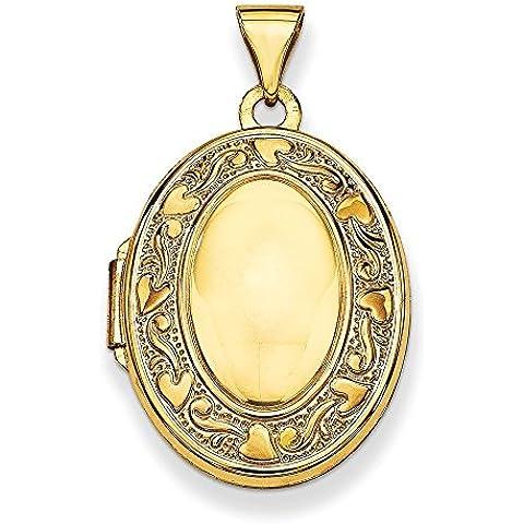 14K oro ovale famiglia medaglione