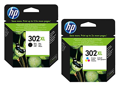 HP 302, F6U66AE - Cartucho de tinta original para HP Envy 4520Capacidad (aprox): 190 páginas / 5 % de cobertura; Color: negro., color (10) 2x XL Tintenpatrone - Black + Color