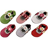 MiniFeet Soft Leather Baby Shoes, Baby Sandals 0-6, 6-12, 12-18 & 18-24 Months