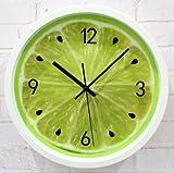 WXIN Das Wohnzimmer Wall Clock Clock Mute Schlafzimmer Quarz Große Tabelle Zitrone Wanduhr 12 Cm Kaffernlimette
