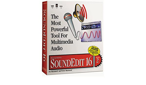 Macromedia soundedit 16 version 2 for apple macintosh w/original.