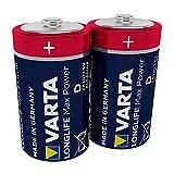 Varta Longlife Max Power Batterie D Mono Alkaline Batterien LR20-2er Pack (Design/Produktname kann abweichen)