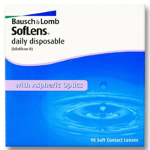 Bausch & Lomb SofLens daily disposable Tageslinsen weich, 90 Stück / BC 8.60 mm / DIA 14.20 mm / -02.75 Dioptrien