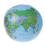 Dabixx Kartenballon, 30CM aufblasbare Weltkarte-Kugel-Ballon-Wasserball-Bildungs-Geografie-Kind spielt