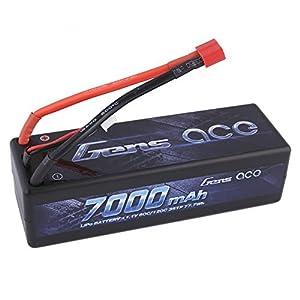 Gens ace 7000mAh 11.1V 60C 3S Hardcase Lipo batería Pack for FPV Racing Quadcopters Diverse Racing Cars Modelo de helicóptero Aviones y Barcos