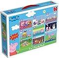 Peppa Pig - Pack de 9 puzzles (2 x 12 piezas, 2 x 24 pzs, 3 x 35 pzs and 2 x 50 pzs) (a partir de 3 años) por Jumbo Games