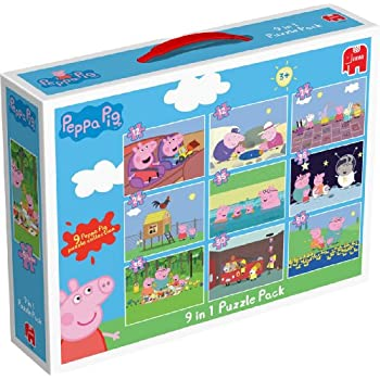 Peppa Pig - 9 in 1 Bumper Pack of Jigsaw Puzzles