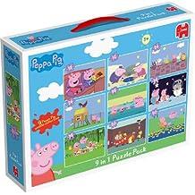 Peppa Pig - Pack de 9 puzzles (2 x 12 piezas, 2 x 24 pzs, 3 x 35 pzs and 2 x 50 pzs) (a partir de 3 años)