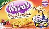 VitaSnella - Crackers, con farcitura, Frutti Rossi - 4 confezioni da 8 pezzi da 24.6 g [32 pezzi, 788 g]