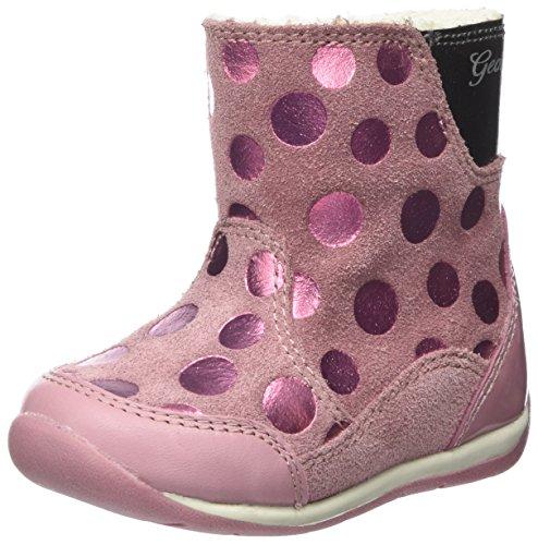 Geox Baby Mädchen B Each Girl A Stiefel, DK Pink, 21 EU Baby Girls Pink Check