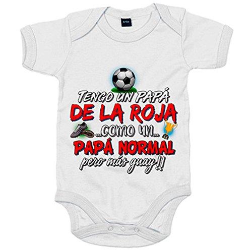 Body bebé tengo un papá de La Roja como un papá normal pero más guay - Blanco, 12-18 meses