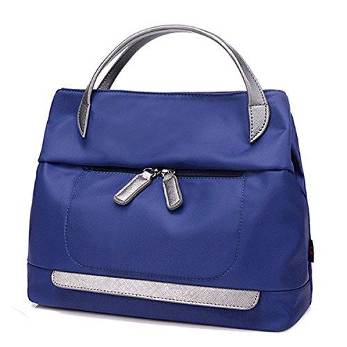 MeCooler Handtasche Damen Umhängetasche Mode Taschen Designer Tragetasche Messenger Bag Schultertasche für Mädchen Blau