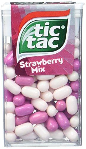 Tic Tac 100er - Strawberry Mix, 16er Pack (16x 49 g) (Tic Tac Süßigkeiten)
