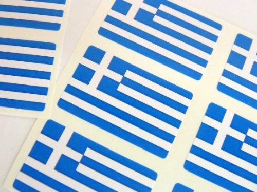 Paquete de 60 , 33x20mm , Grecia Auto-adherente Bandera Pegatinas , Griego autoadhesivo Bandera Etiquetas