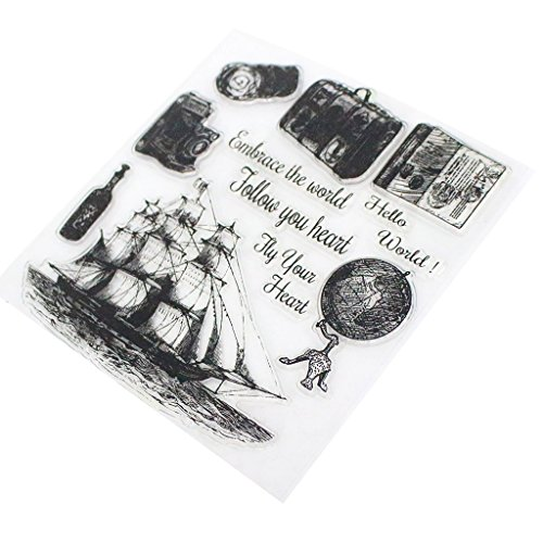 La Voile Stempel, transparent, für Scrapbooking, Stamp, Kalender, aus Silikon, für Basteln, kreative Freizeit, Dekoration, Weihnachtsgeschenk, Kinder