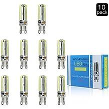 Focusled G9 SMD 3014 Bombilla LED AC220V G9 7W llevó la lámpara LED de las bombillas 220V del bulbo del proyector G9 en lámpara de cristal blanco frío (10 Packs)