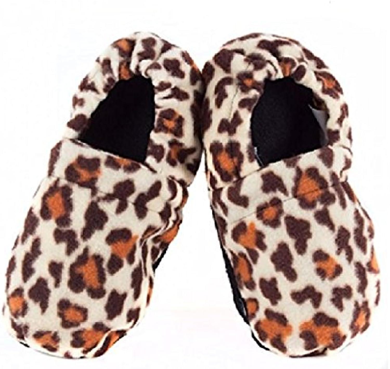 Zapatillas de estar en Casa Calentables en el Microondas Leopardo -