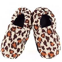 Zapatillas de estar en Casa Calentables en el Microondas Leopardo