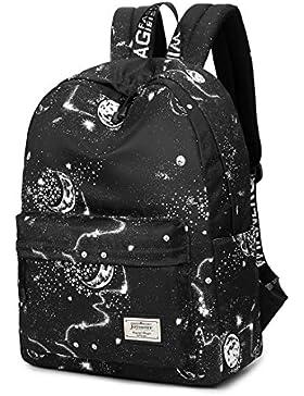 Joymoze Wasserdicht Süß Schule Rucksack für Jungen und Mädchen Leicht Schick Bedruckt Bücher Tasche