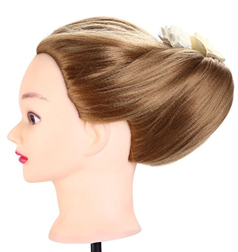 Meokey 26 Long Hair Style Manikin Training Mannequin Hairdressing Doll Head Cosmetology Practice Clamp Model With Clamp Holder Buy Online In Faroe Islands At Faroe Desertcart Com Productid 63120170