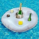1 x XL Poolbar aufblasbar Getränkehalter Kühler Pool Rettungsring Garten Bar
