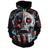 Ai Ya-weiyi Casual Hoodies Men Skull 3D Full Drucken Gothic Terror Streetwear Pullover Top Sweatshirt Mode Übergrößen 5XL