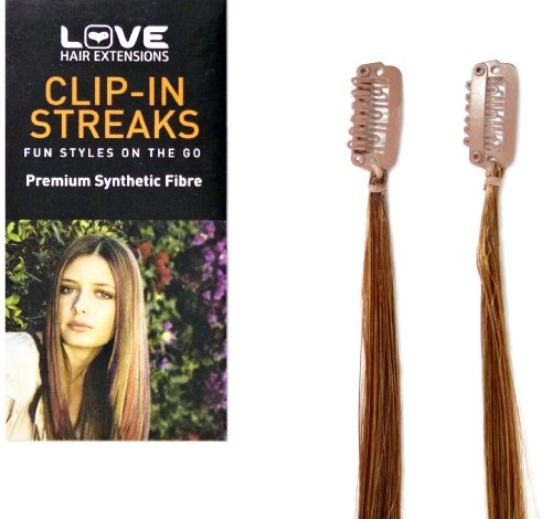 Love Hair Extensions - LHE/S1/QFCS/16/28 - Paquet Jumeau Stries à Clipper - Couleur 28 - Blond Fraise Riche - 41 cm