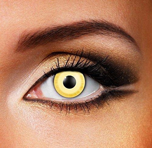 Funky Vision Kontaktlinsen - 12 Monatslinsen, Avatar, Ohne Sehstärke, 1 Stück