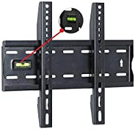 Techstyleuk® 15 to 42 Inches Fixed TV Wall Mount Bracket with Built-In Spirit Level UK