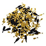 SM SunniMix Champagne Bottles And Glasses Matrimonio Baby Shower Table Confetti Sprinkles